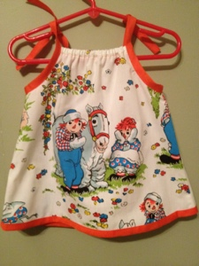 Raggedy Ann baby dress