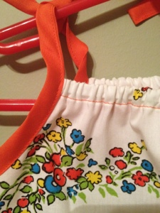 Creative Counselor: Raggedy Ann baby dress strap detail