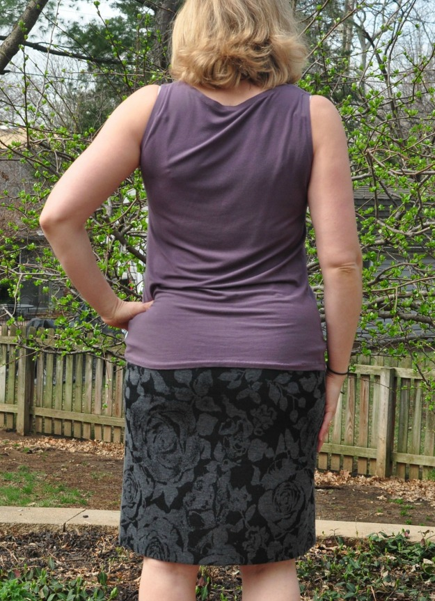 Creative Counselor: Great work basics -- jersey skirts and Day to Night Drape top