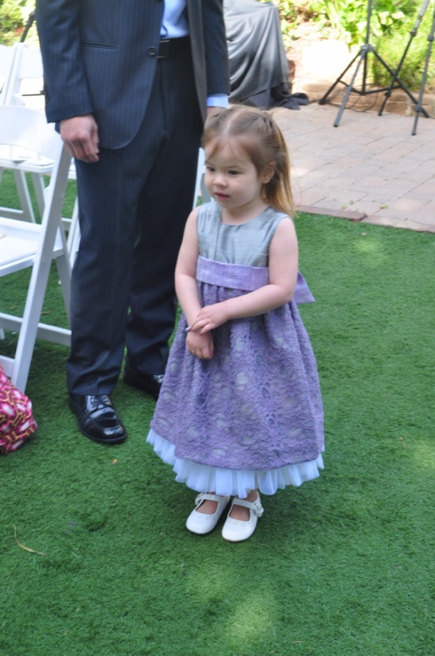 Made by Rae Geranium dress turned into an adorable flower girl dress by the Creative Counselor