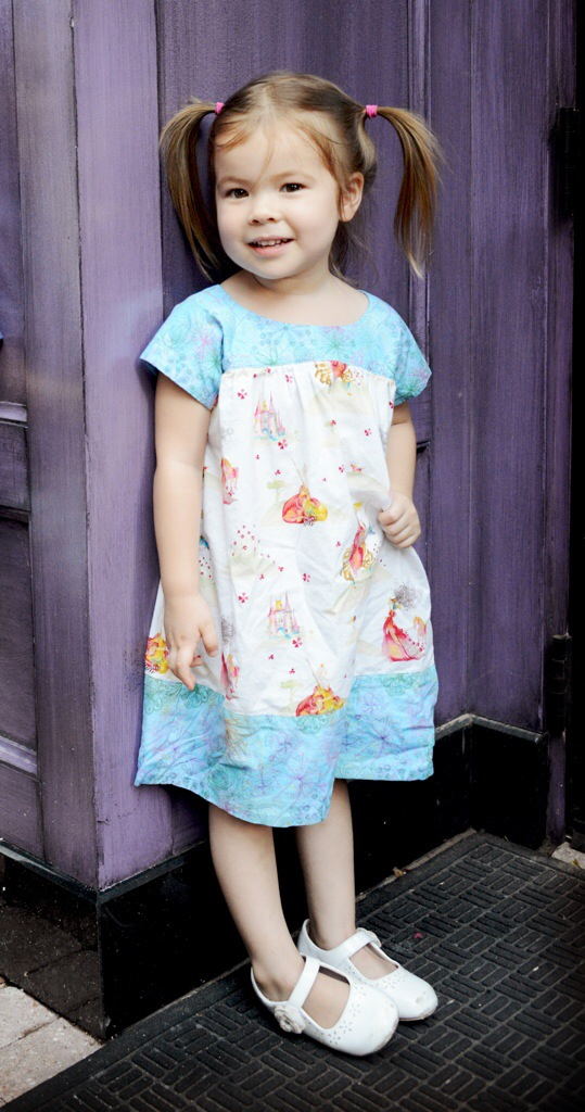 Adorable Oliver + S Ice Cream Dress sewn by Katie @ Creative Counselor