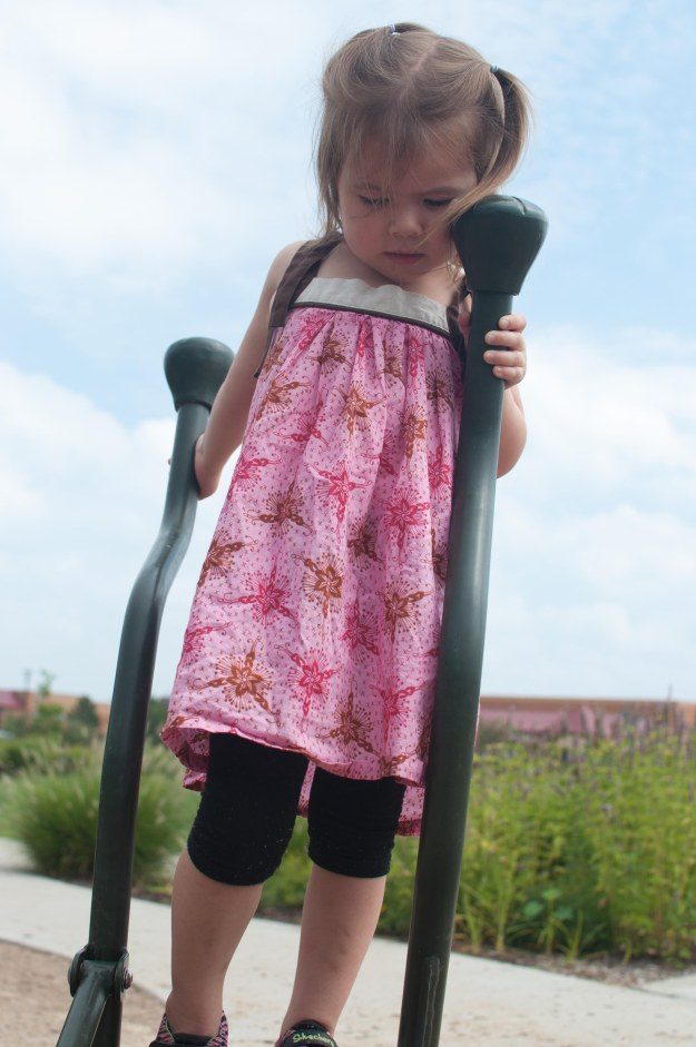 Darling Oliver + S Popover Sundress modified for more fullness.  Sewn by Katie @ Creative-Counselor.com