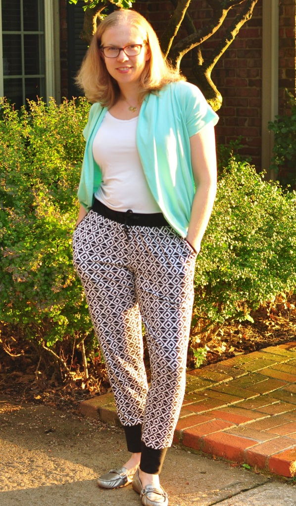Super comfy Papercut Patterns Anima Pants sewn by Katie @ Creative Counselor
