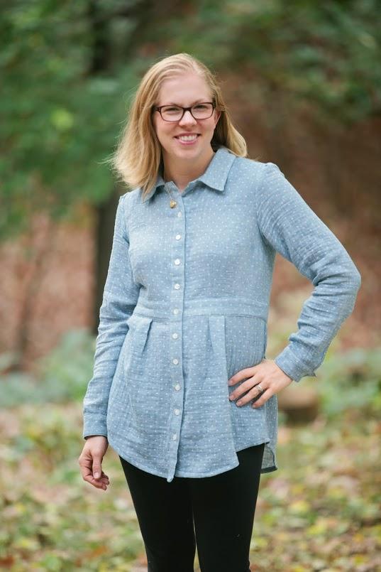 Deer & Doe Bruyere Shirt sewn by Katie @ www.creative-counselor.com