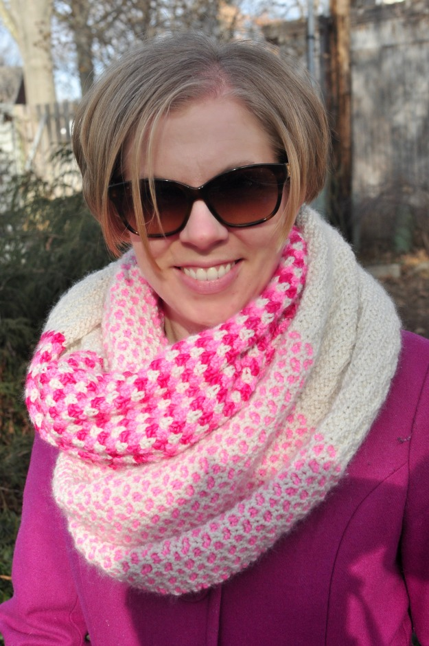 Purl Soho Stitch Block Cowl knit by Katie @ www.creative-counselor.com