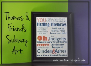 Creative Counselor: Thomas subway art free printable