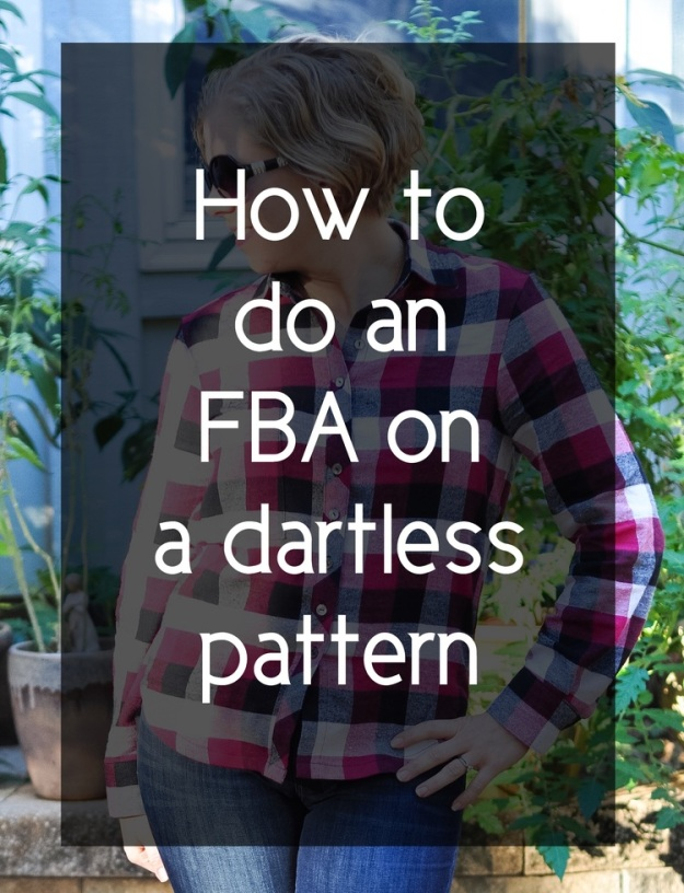 Creative Counselor: How to do an FBA on a dartless pattern