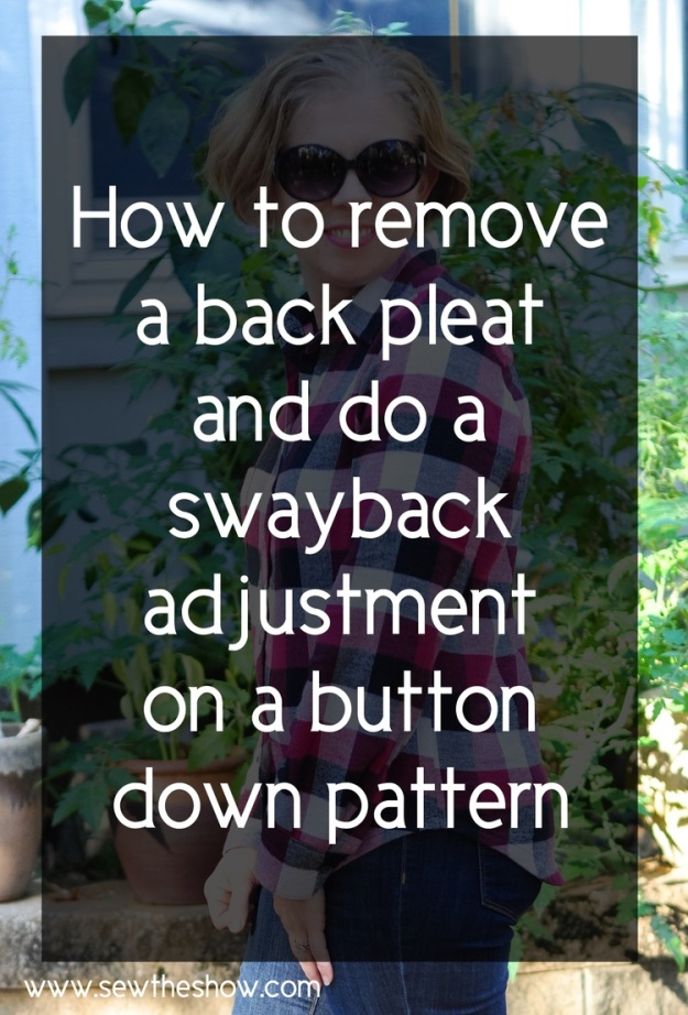 Creative Counselor: How to remove a back pleat and do a swayback adjustment